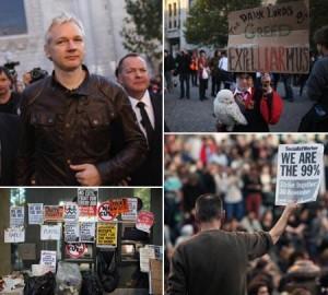 O fenômeno #occupy chegou a Londres, com direito a discurso de Julian Assange