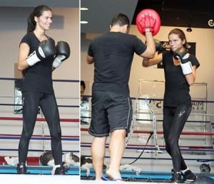Adriana Lima pratica boxe, vcs sabiam?