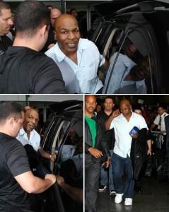 Mike Tyson já está no Brasil para gravar com @lucianohuck !!!!