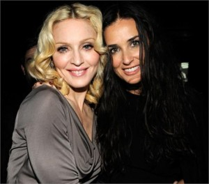 Madonna deu seus pitacos na separação de Ashton e da amiga Demi